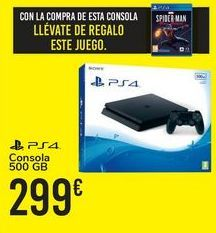 Oferta de Consola 500 GB PS4  por 299€