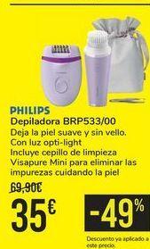 Oferta de Depiladora BRP533/00 PHILIPS  por 35€