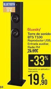 Oferta de Torre de sonido BTS T100 Bluesky por 19,9€