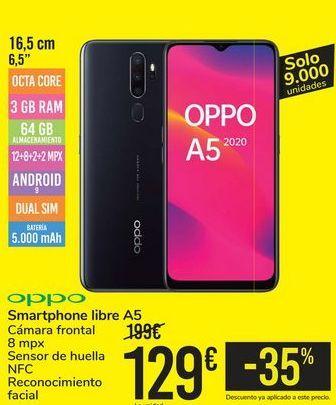 Oferta de Smartphone libre A5 OPPO por 129€