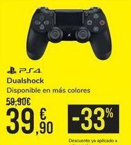 Oferta de Dualshock PS4  por 39,9€
