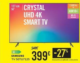 Oferta de TV 50TU7125 SAMSUNG por 399€