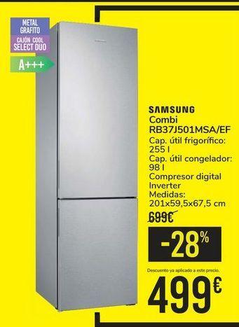 Oferta de Combi RB37J501MSA/EF SAMSUNG por 499€