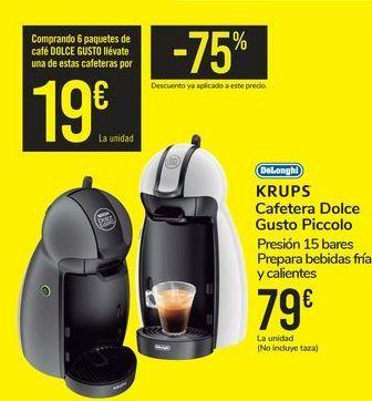 Oferta de Cafetera Dolce Gusto Piccolo DeLonghi por 79€