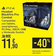 Oferta de Headset Blackfire Pro Combat  por 11,9€