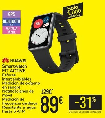 Oferta de Smartwatch FIT ACTIVE HUAWEI por 89€