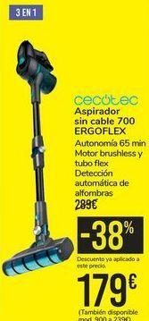 Oferta de Aspirador sin cable 700 ERGOFLEX CECOTEC por 179€