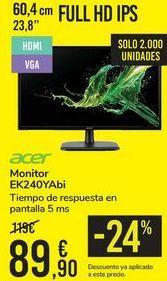 Oferta de Monitor EK240YAbi ACER por 89,9€