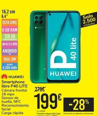Oferta de Smartphone libre P40 LITE HUAWEI por 199€