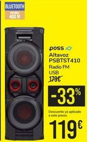 Oferta de Altavoz PSBTST410 POSS por 119€