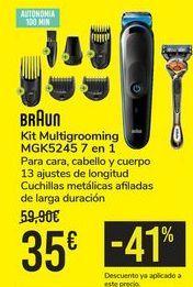 Oferta de Kit Multigrooming MGK5245 7 en 1 BRAUN por 35€