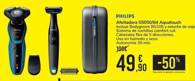 Oferta de Afeitadora S5050/64 Aquatouch PHILIPS por 49,9€