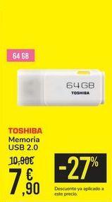 Oferta de Memoria USB 2.0 TOSHIBA por 7,9€