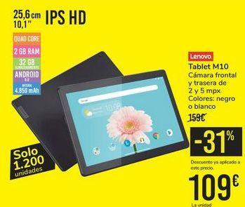 Oferta de Tablet M10 LENOVO por 109€