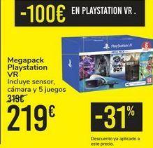 Oferta de Megapack Playstation VR por 219€