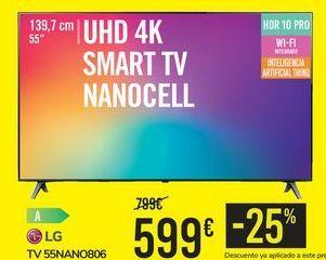 Oferta de TV 55NANO806 LG por 599€
