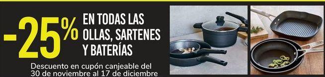 Oferta de En TODAS las ollas, sartenes y baterias  por