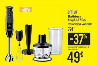 Oferta de Batidora MQ5237BK BRAUN por 49€