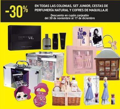 Oferta de En TODAS las colonias, set junior, cestas perfumería y cofres de maquillaje  por