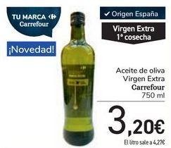 Oferta de Aceite de oliva Virgen Extra Carrefour por 3,2€