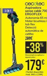 Oferta de Asprador sin cable 700 ERGOFLEX Cecotec  por 179€