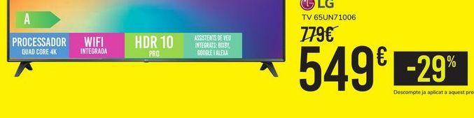 Oferta de TV 65UN71006 LG por 549€