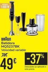 Oferta de Batidora BRAUN MQ5237BK por 49€