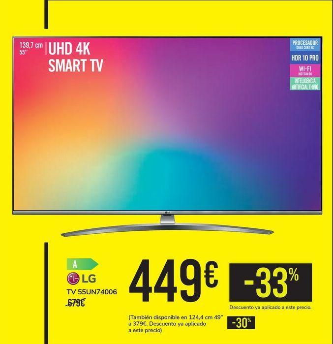 Oferta de TV 55UN74006 LG por 449€