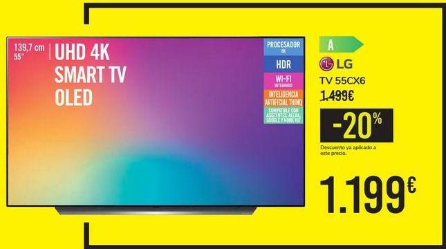 Oferta de TV 55CX6 LG por 1199€