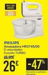 Oferta de Amasadora HR3745/00 philips  por 26€