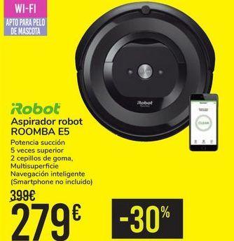 Oferta de Aspirador robot ROOMBA E5 iRobot por 279€