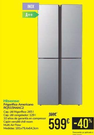 Oferta de Frigorífico Americano RQ515N4AC2 Hisense por 599€