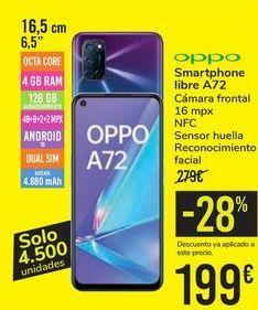 Oferta de Smartphone libre A72 OPPO por 199€