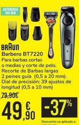 Oferta de Barbero BT7220 BRAUN por 49,9€