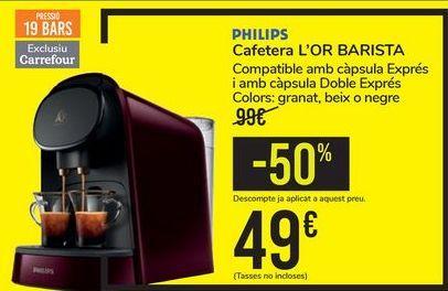Oferta de Cafetera L'OR BARISTA PHILIPS por 49€