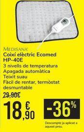 Oferta de Almohadilla eléctrica Ecomed HP-40E Medisana  por 18,9€