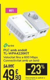 Oferta de PLC con enchufe TL-WPA4226KIT por 49,9€