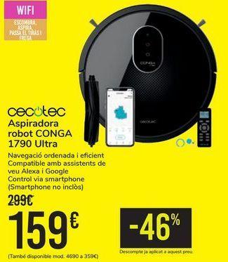 Oferta de Aspirador robot CONGA 1790 Ultra CECOTEC por 159€