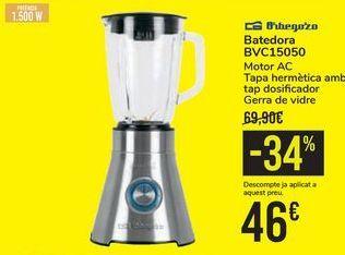 Oferta de Batidora BVC15050 Orbegozo por 46€