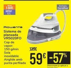Oferta de Sistema de planchado VR5020FO ROWENTA por 59€