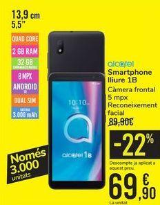 Oferta de Smartphone libre 1B Alcatel por 69,9€