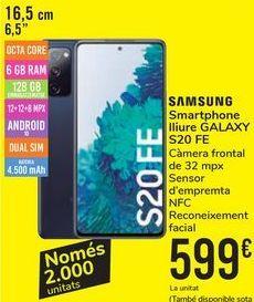 Oferta de Smartphone libre GALAXY S20 FE por 599€