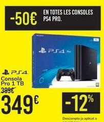 Oferta de Consola Pro 1TB PS4  por 349€