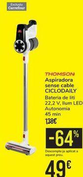 Oferta de Aspirador sin cable CICLODAILY THOMSON por 49€