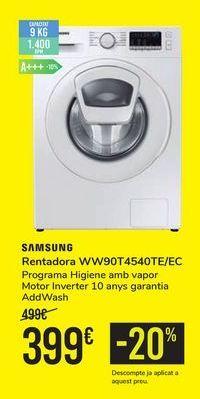 Oferta de Lavadora WW90T4540TE/EC SAMSUNG por 399€