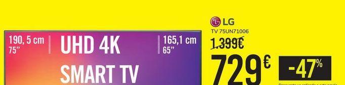 Oferta de TV 75UN71006 LG por 729€