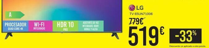 Oferta de TV 65UN71006 LG por 519€