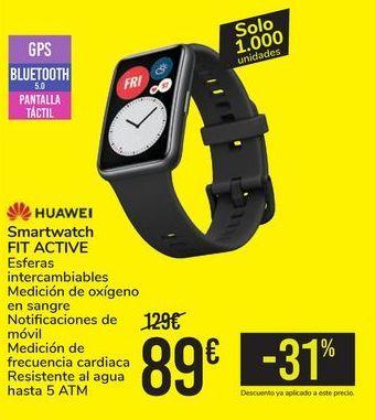 Oferta de Smartwatch FIT ACTIVE HUAWEI por 89€