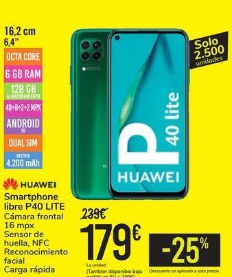Oferta de Smartphone libre P40 LITE HUAWEI por 179€