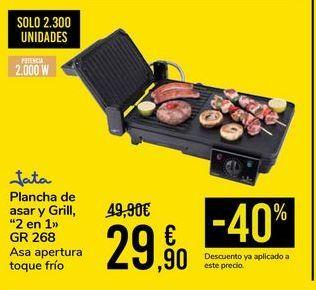 Oferta de Plancha de asar y grill 2 en 1 GR268 Jata por 29,9€